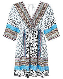Monsoon Dahlia Print  Kaftan Dress