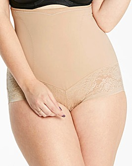 Maidenform Curvy Firm Foundation Hi Waist Beige Brief