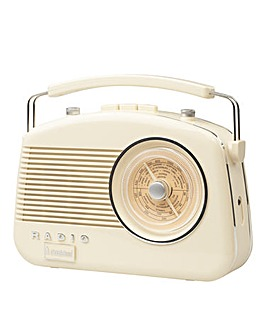Steepletone Brighton Retro Radio Dove Cream