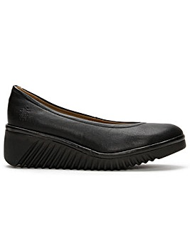 Fly London Leny Leather Wedge Shoes
