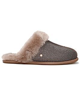 UGG Womens Scuffette II Caviar Shearling Slippers