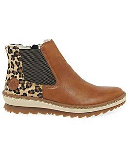 Rieker Weave Standard Fit Chelsea Boots
