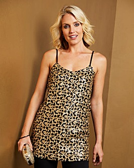 Animal Sequin Camisole