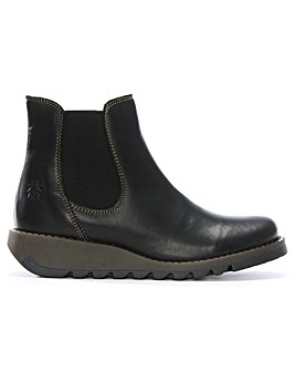 Fly London Salv Leather Wedge Chelsea Boots
