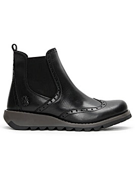 Fly London Sono Leather Brogue Ankle Boots