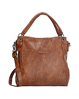Enrico Benetti Caen 2 Handle Faux Leather Handbag