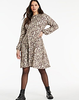 Snake Supersoft Jersey A-line Tea Dress