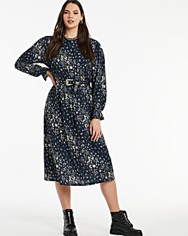 Ditsy Floral Print Midi Dress
