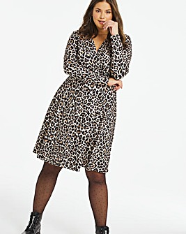 Animal Supersoft Wrap Skater Dress