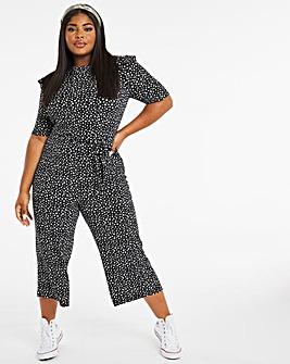 Mono Spot Jersey Wide Leg Jumpsuit