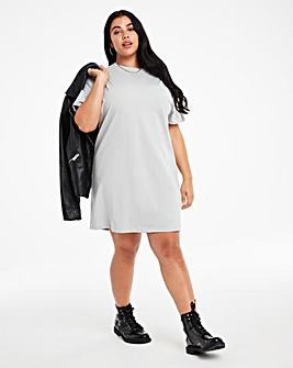 Grey Relaxed T-Shirt Dress