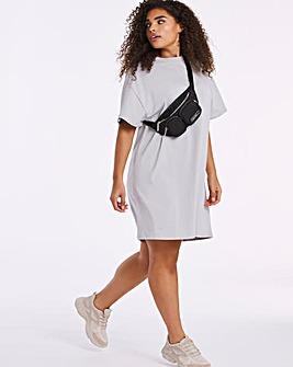 Grey Relaxed T-Shirt Dress