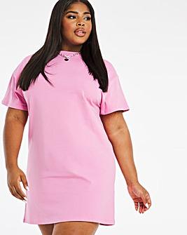 Pink Relaxed T-Shirt Dress