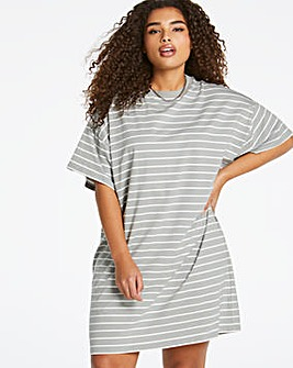 Stripe Relaxed T-Shirt Dress