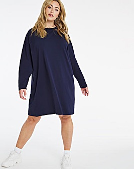 Royal Blue Oversized T-Shirt Dress