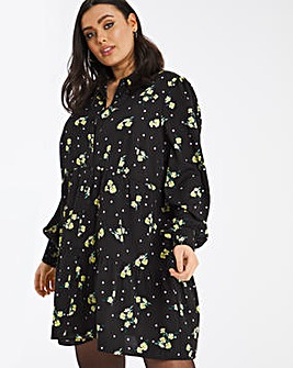 Ditsy Floral Smock Shirt Dress