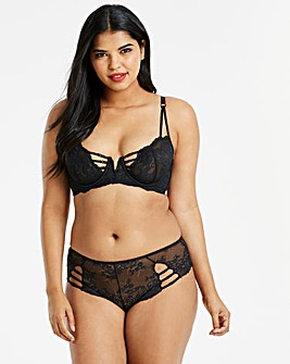 Simply Be Lauren Lace Black Balcony Bra