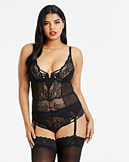 Simply Be Lauren Lace Suspender Slip