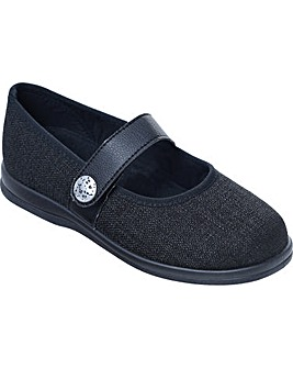 Cosyfeet Koryl Extra Roomy (6E Width) Women's Fabric Shoes