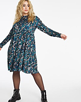 Floral Supersoft Tiered Smock Dress