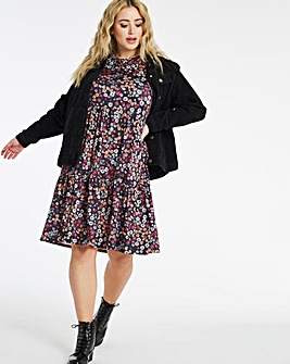 Supersoft Floral Tiered Smock Dress