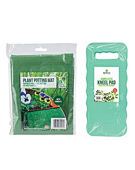 Garden Kneeling Pad & Plant Potting Set
