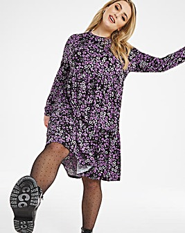 Soft Touch Tiered Smock Dress