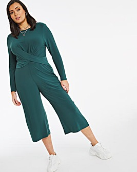Emerald Wide Leg Twist Front Jumpsuit