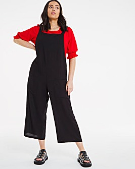 Black Slouchy Wide Leg Jumpsuit