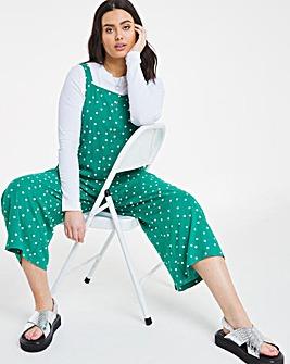 Green Spot Slouchy Wide Leg Jumpsuit