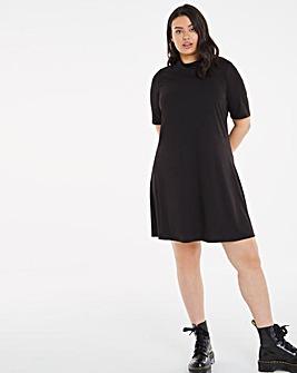 Puff Sleeve Swing Dress