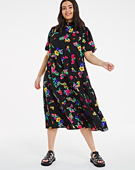 Cassidy Tiered Short Sleeve Midi Dress