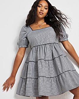 Gingham Smock Dress