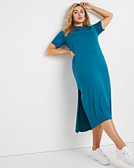 Ocean Oversized Short Sleeve Midi T-Shirt Dress