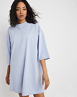 Light Blue Oversized T-Shirt Dress