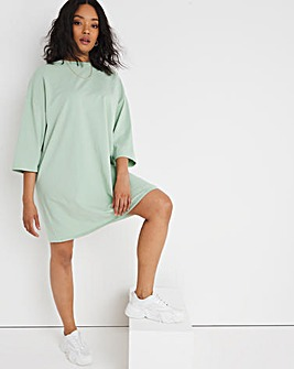 Sage Green Oversized T-Shirt Dress