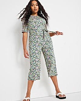 Ditsy Floral Culotte Jumpsuit