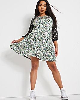 Mixed Floral Flippy Dress