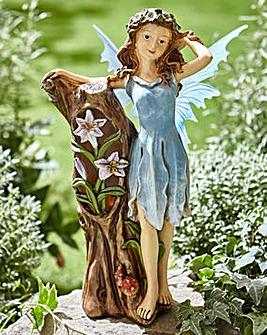 Blue Flower Fairy Solar Light