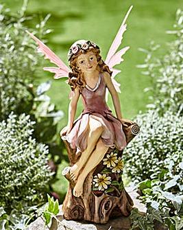 Pink Flower Fairy Solar Light