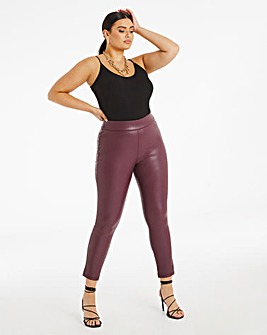 High Waist PU Leggings Regular