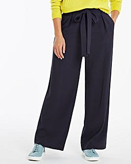 Paperbag High Waist Belted Wide Leg Trousers Regular