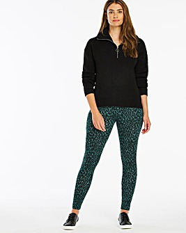 Animal Print Jersey Leggings Regular