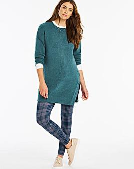Check Print Jersey Leggings Regular