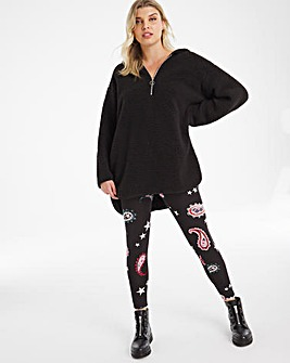 Paisley Print Jersey Leggings Regular