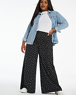 Print Palazzo Wide Trousers Regular