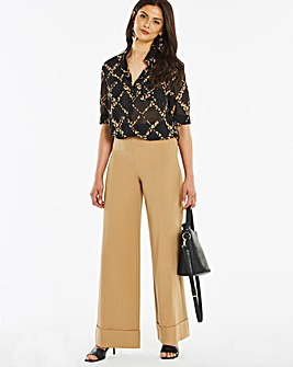 Deep Turn Up Wide Leg Trousers Regular
