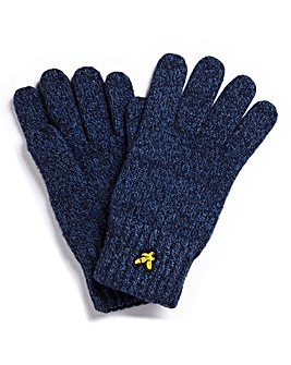 Lyle & Scott Melange Wool Mix Gloves