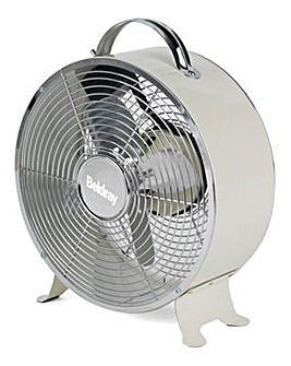 Beldray 8 Inch Cream Clock Fan