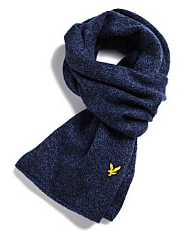 Lyle & Scott Melange Wool Mix Scarf